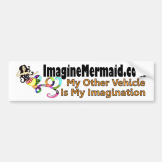 ImaginationMermaid.comのバンパーステッカー バンパーステッカー