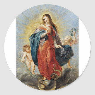 Immaculate Conception - Peter Paul Rubens ラウンドシール