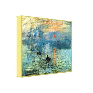 Impression Sunrise by Claude Monet キャンバスプリント
