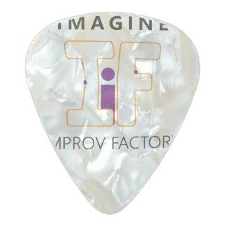 Improvの工場白い一突き2016年を想像して下さい パールセルロイド ギターピック