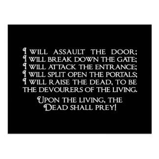 Inanna/Ishtarの入る下層社会の引用文 ポストカード
