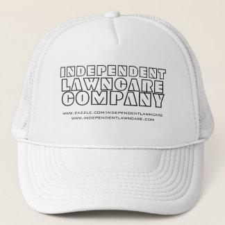 INDEPENDENT、LAWNCARE、COMPANYの白いヘッド帽子 キャップ
