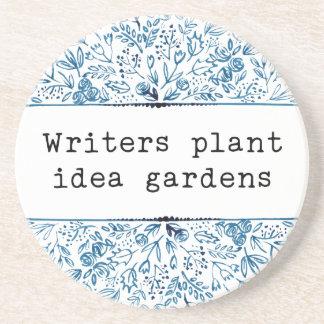 Indigo Blue Floral | Writers Plant Idea Gardens コースター