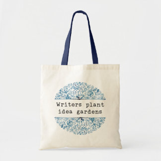 Indigo Blue Floral | Writers Plant Idea Gardens トートバッグ