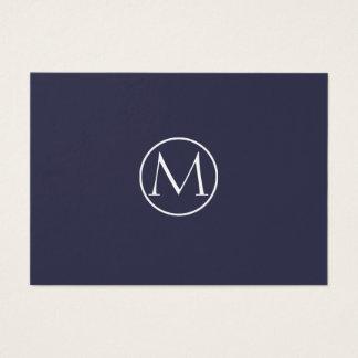 Indigo Elegant Monogram 名刺