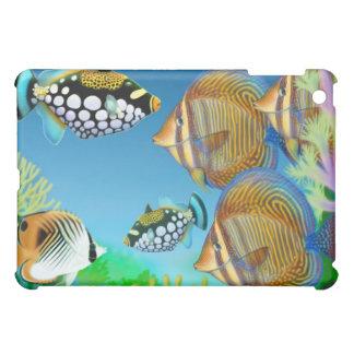 Indoの太平洋の珊瑚礁の魚のSpeckの場合 iPad Miniケース