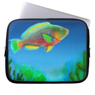 Indo太平洋礁のParrotfishの電子工学のバッグ ラップトップスリーブ