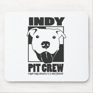 Indyのピット・クルーの役人のロゴ マウスパッド