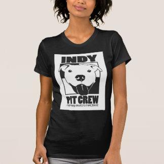 Indyのピット・クルーの役人のロゴ Tシャツ
