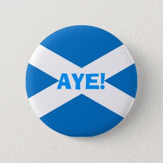 Indyの賛成スコットランドの旗ボタン 5.7cm 丸型バッジ