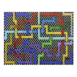 Infinitieの相互パズルの当惑のデザイン ポストカード