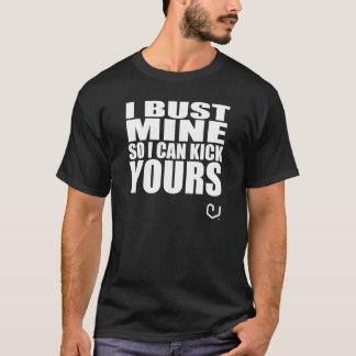 Inforzaのフィットネスの衣服の黒のTシャツ- Iのバスト鉱山 Tシャツ