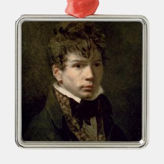 Ingresの若い1790年代のポートレート メタルオーナメント