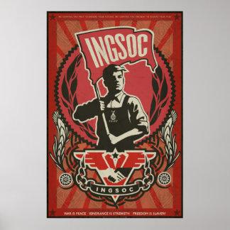 INGSOCの1984年のプロパガンダポスター ポスター