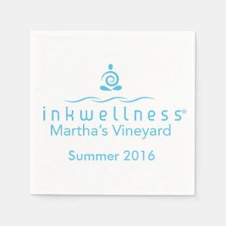 Inkwellness - MVの白のナプキン スタンダードカクテルナプキン