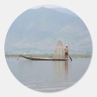 Inle湖の採取 ラウンドシール