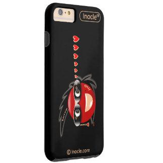 Ino力の社会的なスーパーモデルのiPhoneの場合(黒) Tough iPhone 6 Plus ケース