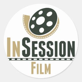 InSessionのフィルムのステッカー ラウンドシール