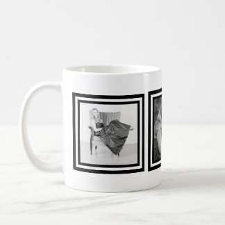 Instagramのはっきりしたな白黒3つの写真 コーヒーマグカップ