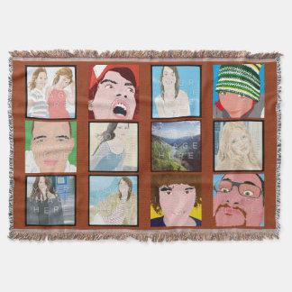 Instagramのモザイク写真のカスタマイズ可能なブランケット 毛布