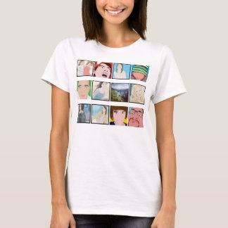 Instagramのモザイク写真の名前入りな女性服装 Tシャツ