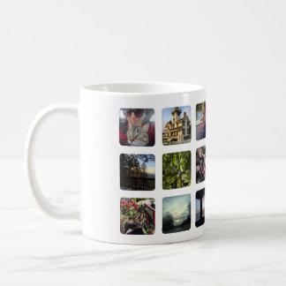 Instagramの写真18の正方形フレーム コーヒーマグカップ