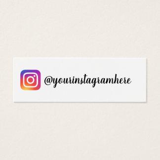 instagramの勾配の粋でモダンな名刺 スキニー名刺