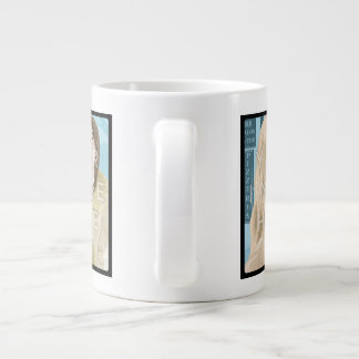 Instagramの2写真の名前入りでカスタムなジャンボマグ ジャンボコーヒーマグカップ