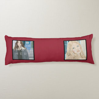 Instagramの4写真の赤くカスタムな抱き枕 抱き枕