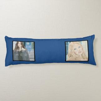 Instagramの4写真の青くカスタムな抱き枕 抱き枕