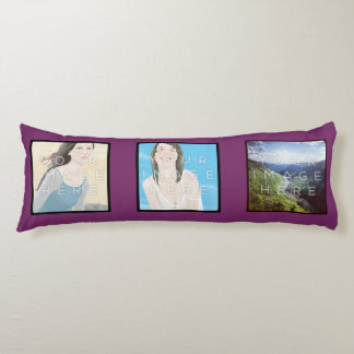 Instagramの6写真のすみれ色のカスタムな抱き枕 抱き枕