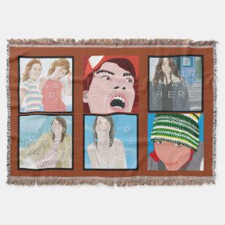 Instagramの6写真のカスタマイズ可能なブランケット 毛布