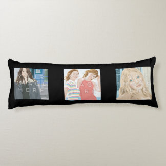 Instagramの6写真の黒のカスタムの抱き枕 抱き枕