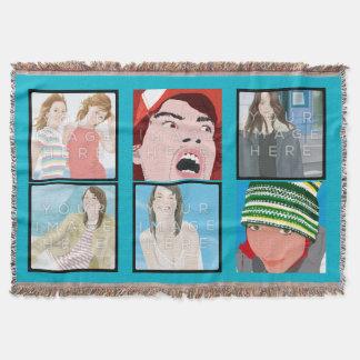 Instagramの6写真のLt Blue Customのブランケット 毛布