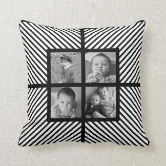 Instagram 4のヘリンボンが付いている正方形の写真の枕 クッション