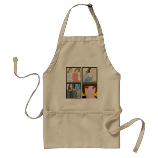 Instagram 4 Photo Personalized Apron Designs スタンダードエプロン