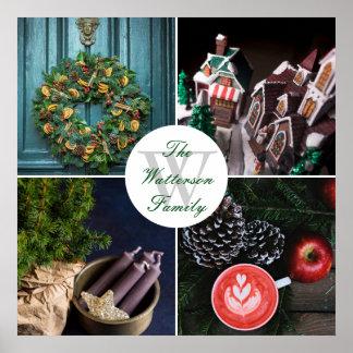 Instagram Hyggeのクリスマスの季節的な写真のコラージュ ポスター
