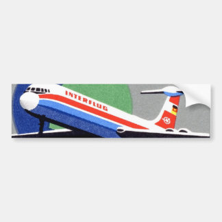 INTERFLUG - DDR、東ドイツの国営航空会社 バンパーステッカー