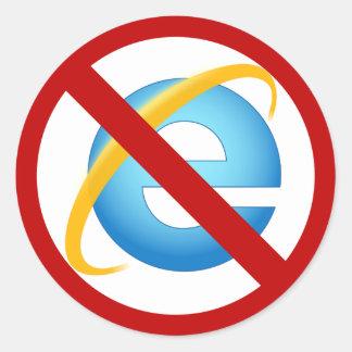 Internet Explorerのステッカー無し(無地のな打撃) ラウンドシール