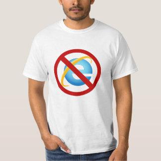 Internet ExplorerのTシャツ無し(無地のな殴打) Tシャツ