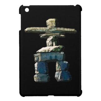 Inukshukのネイティブアメリカンの精神の石 iPad Mini カバー