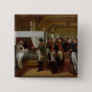 Invalidesの付属診療所を訪問しているナポレオン 5.1cm 正方形バッジ