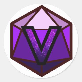"""INVICTUSの流れの""""紫色のチーム""""ロゴ ラウンドシール"""