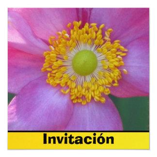 Invitación -ピンクの花 カード