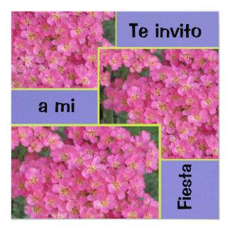 Invitación -フェスタ-ピンクの花 カード