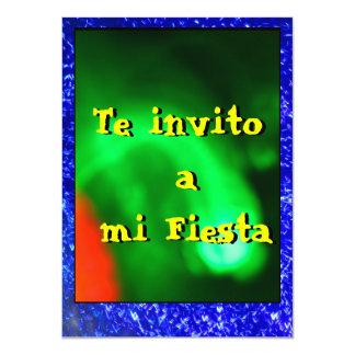 Invitación - Teのinvito miのフェスタ- Verde y Azul カード