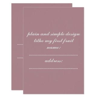 invitation card standard white enveloped included カード