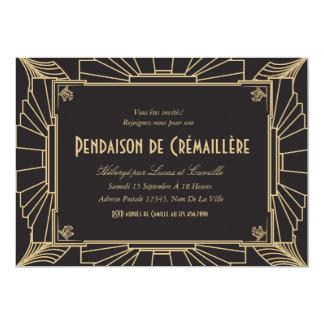 Invitation orientée de partie de pendaison de 1920 12.7 x 17.8 インビテーションカード