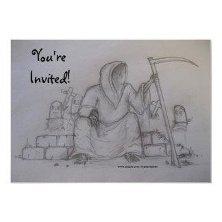 Invitatonを引いている招待されましたの死神 カード
