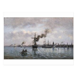 Ioannis Altamouras著コペンハーゲンの港 ポストカード